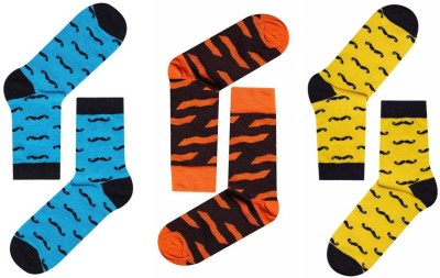 jamssocks Men's Self Design, Animal Print, Graphic Print Crew Length Socks