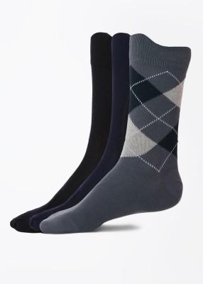 Peter England Mens Mid-calf Length Socks(Pack of 3)