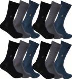 Flora Men's Solid Crew Length Socks