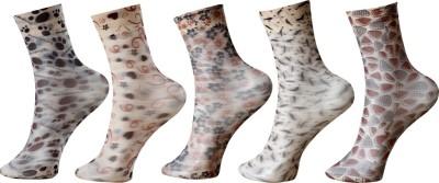 Khi Womens Graphic Print Mid-calf Length Socks