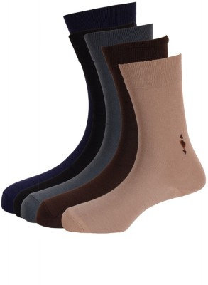 Calzini Men's Solid Glean Length Socks