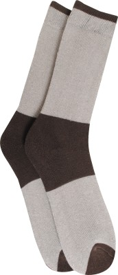 Bs Spy Towel Lykra (Stretchable) 1 Pair Men's Striped Crew Length Socks