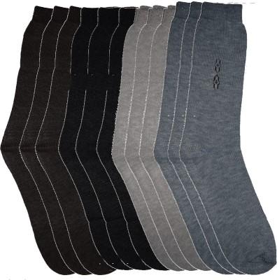 Ishaya Stores Men's Solid Quarter Length Socks