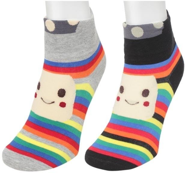 Nxt 2 Skn Womens Printed Ankle Length Socks(Pack of 2)