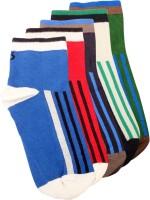 Lefjord Mens Printed Ankle Length Socks(Pack of 5)