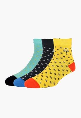 Allen Solly Men's Printed Ankle Length Socks