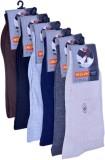 Neulon Men's Solid Crew Length Socks