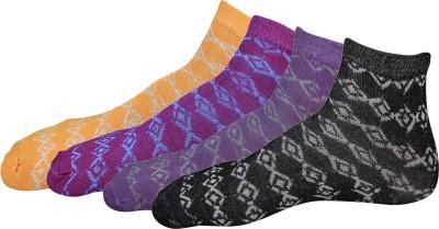 indian street fashion Women's Floral Print Ankle Length Socks