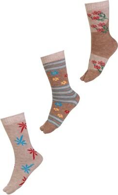 Klair Women's Floral Print Crew Length Socks