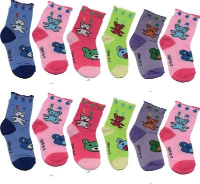 Ishaya Stores Baby Boys Floral Print Quarter Length Socks