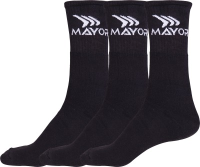 Mayor Men's Solid Mid-calf Length Socks