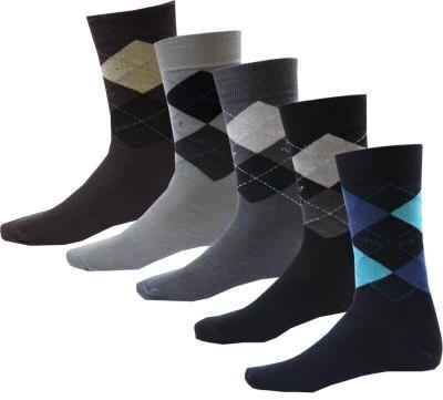 Avm Hw Velvet Men's Self Design Crew Length Socks