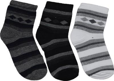 Ishaya Stores Men's Striped Ankle Length Socks