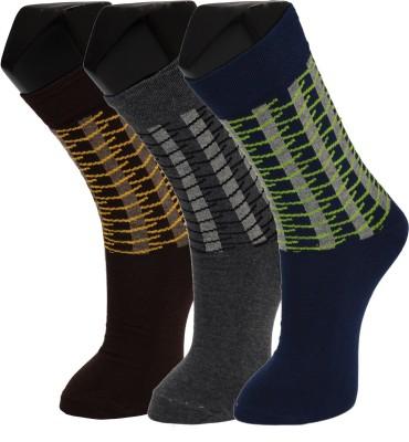 Welwear Men's Graphic Print Crew Length Socks