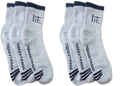 Moda Estrada Men's Striped Ankle Length Socks