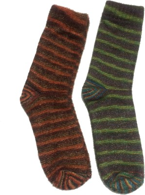 Graceway Womens Striped Crew Length Socks