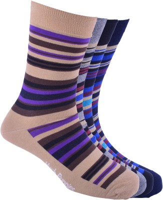 Hush Puppies Men's Striped Crew Length Socks