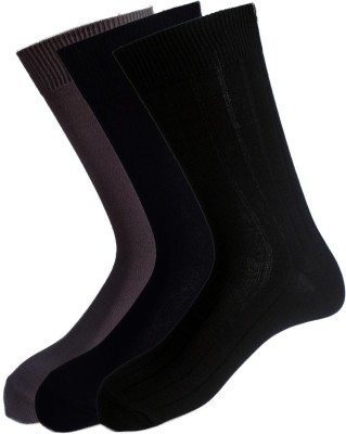 Peter England Men's Solid Mid-calf Length Socks