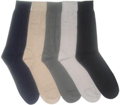 Well Wear Men,s Self Design Crew Length Socks