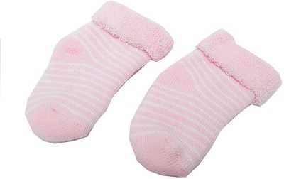 Swaraj Baby Girl's Striped Footie Socks