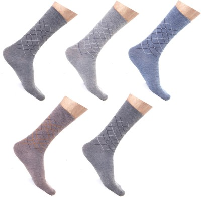 Roselon Men's Graphic Print Ankle Length Socks