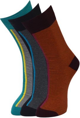 Vinenzia Mens Solid Crew Length Socks