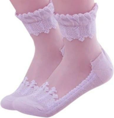 Icable Girl's Applique Quarter Length Socks