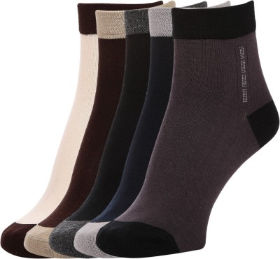 Sir Michele Men's Solid Ankle Length Socks