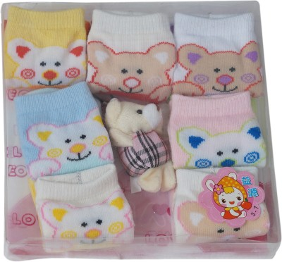 Sabhya Sakshi Baby Girl's Printed Crew Length Socks