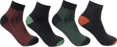 Bonjour Neon Cotton Mens Self Design Ankle Length Socks