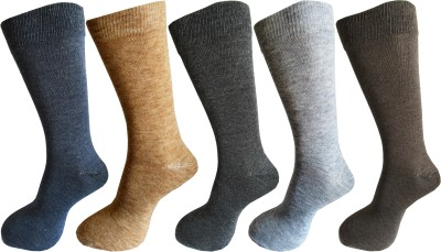 Royal Class Men's Solid Crew Length Socks