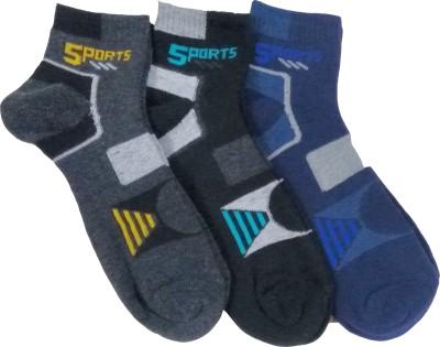 Zetta Men's Embriodered Ankle Length Socks