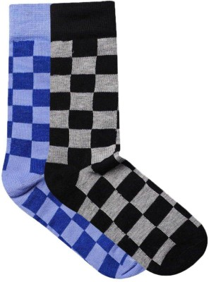JamsSocks Men's Checkered Crew Length Socks