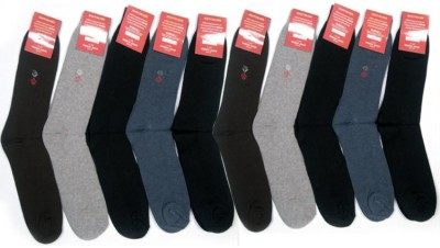 Killys Men's Solid Mid-calf Length Socks