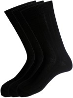 Peter England Men's Wear - Peter England Men's Solid Mid-calf Length Socks(Pack of 3)