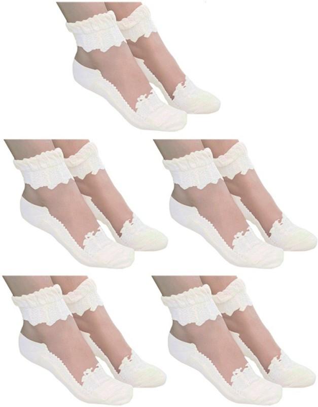 Brandstand Women's Self Design Ankle Length Socks(Pack of 5)