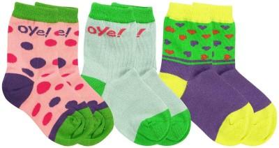 Oye Girl's Printed Ankle Length Socks
