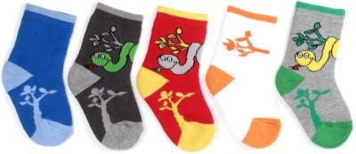 Bonjour 0-1 Years Baby Girls Self Design Ankle Length Socks(Pack of 5)