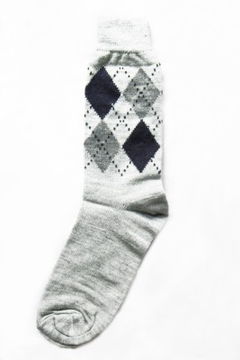 The Modern Knitting Shop Diamond Print Men's Printed Crew Length Socks