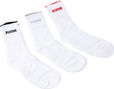 Puma Mens Solid Crew Length Socks(Pack of 3)