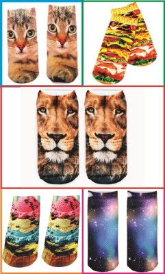 Gadget Paradise Women's Printed Ankle Length Socks