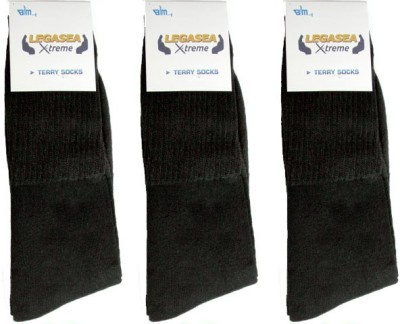 Legasea Men's Solid Ankle Length Socks