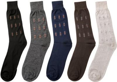 Mikado Premium Cotton Men's Embellished Crew Length Socks