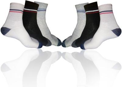 GINWALA Men,s Solid Ankle Length Socks