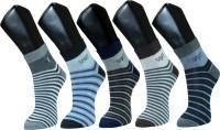 Gen Mens Striped Footie Socks(Pack of 5)