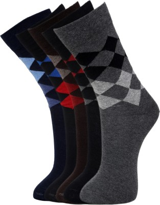 Vinenzia Men's Checkered Crew Length Socks