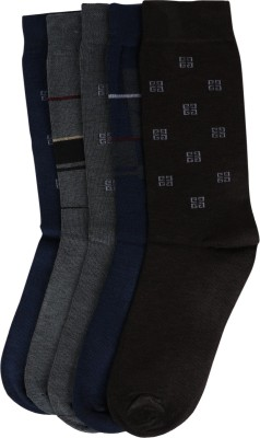 Ameno Men's Solid Crew Length Socks