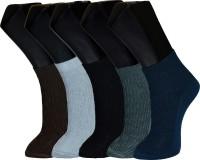 Welwear Mens Self Design Ankle Length Socks(Pack of 5)