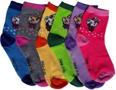Hosiery Mart Baby Girl's Graphic Print Ankle Length Socks