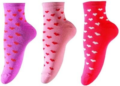 Ezzi Feet Women's Self Design Ankle Length Socks